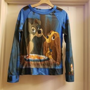 Disney Lady and the tramp long sleeve top